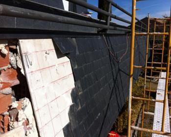 hundimientos en tejados de pizarra