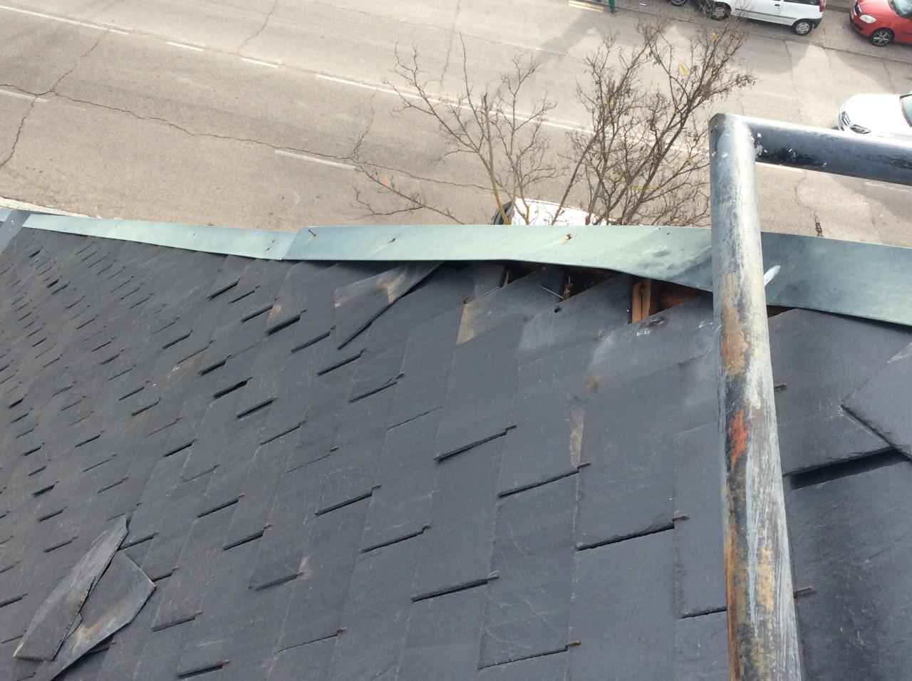 limas de caballete voladas en el tejado