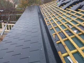 canalones ocultos en tejados pizarra