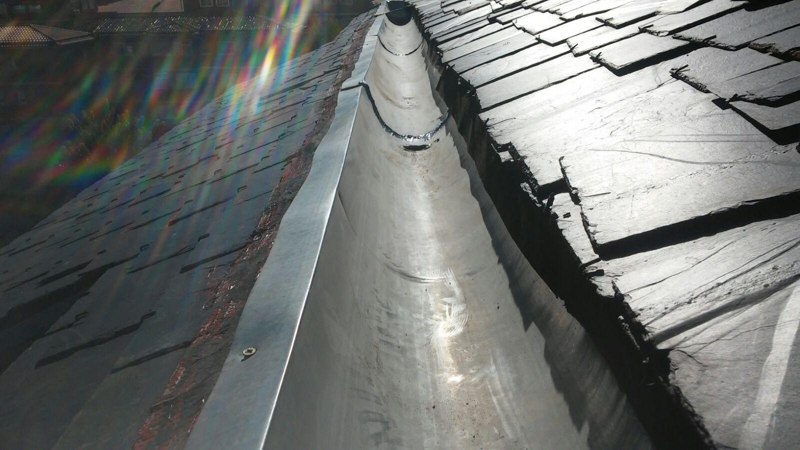 tejados de pizarra en Madrid con baja pendiente
